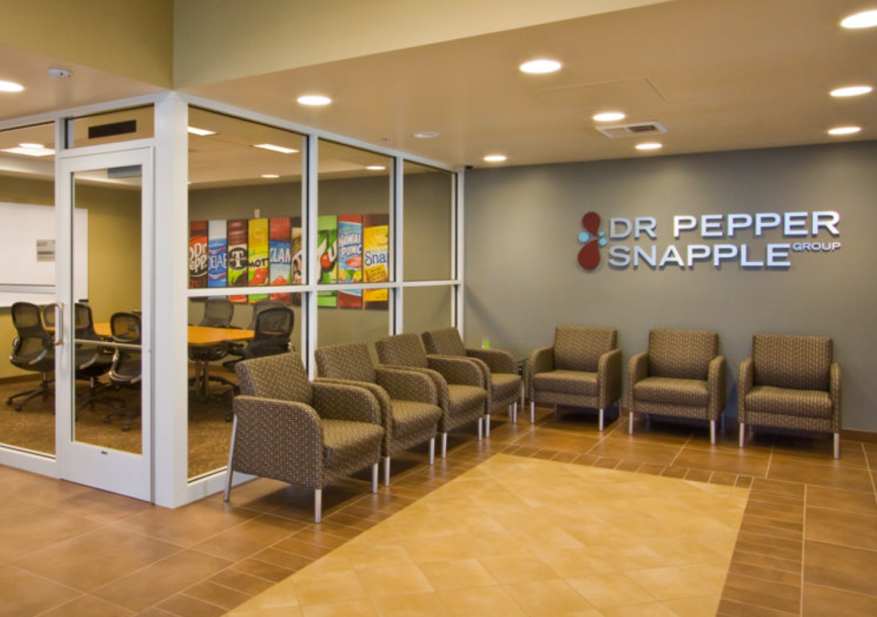Lobby and Conference Room at Dr. Pepper/ Snapple Distribution Facility Built by ARCO Construction