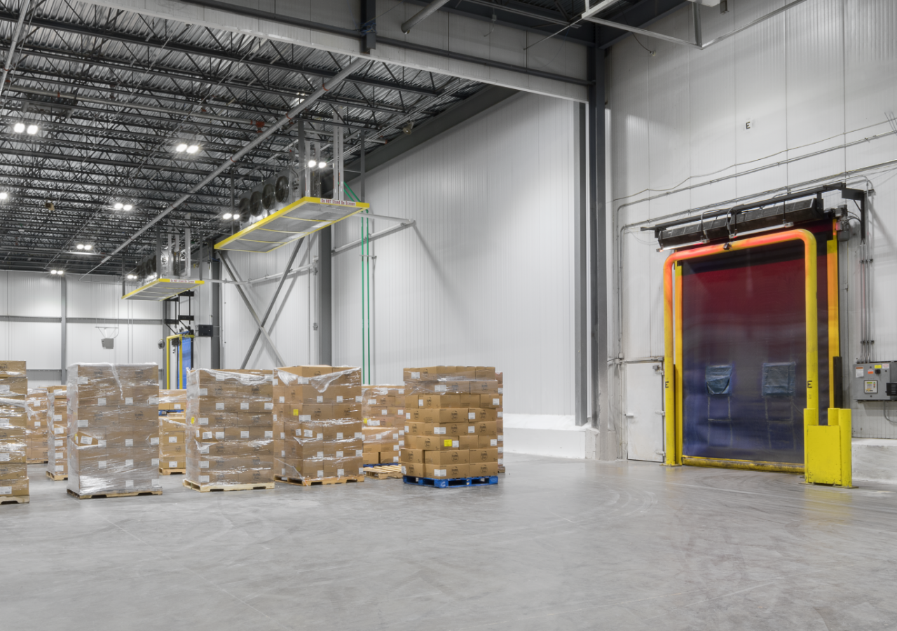 Product and Door in Warehouse at Sysco Cold Storage & Food Distribution Facility Built by ARCO Construction