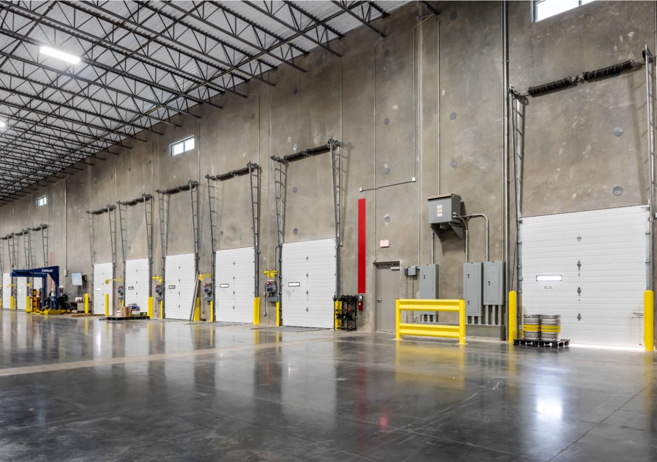 Interior Dock Positions at Glazer's Beer & Beverage Distribution Facility Built by ARCO Construction