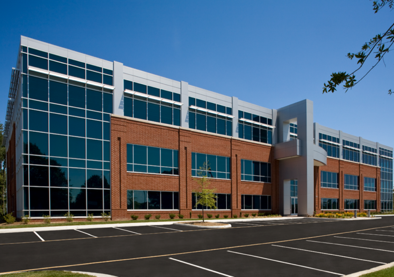Diagonal View of Liberty Property Trust Independence Place Office Building Built by ARCO Construction
