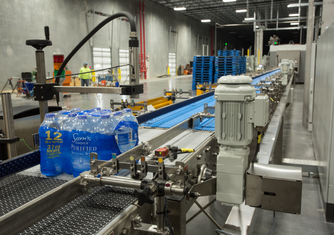 Bottled Water Products on Line at Premium Waters Bottled Water Production Facility Built by ARCO Construction